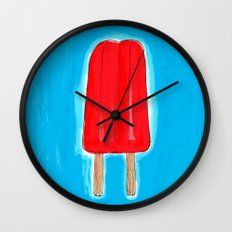 Ice Pops and Pool Time Wall Clock
