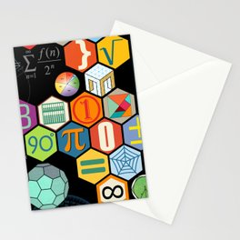 Math in color Black B Stationery Cards