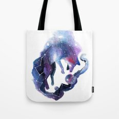 Galaxy Fox Tote Bag