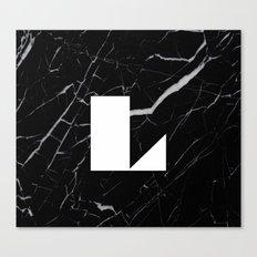 Black Marble - Alphabet L Canvas Print