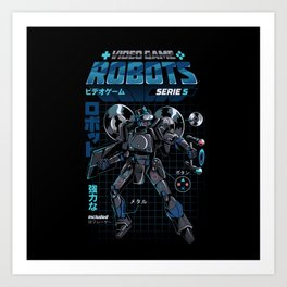 Video Game Robot - Model S Art Print