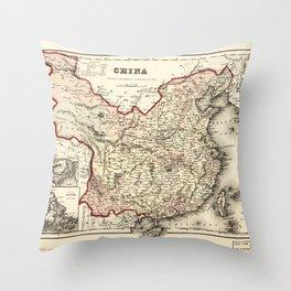 Map of China (1857) Throw Pillow