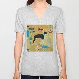 Boston Terrier Painting Art Unisex V-Neck