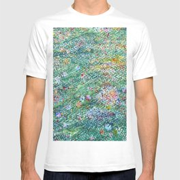 colorful flower filed T-shirt