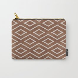 Stitch Diamond Tribal in Sienna Carry-All Pouch