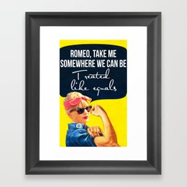 Romeo, take me Framed Art Print