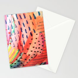 Fun Lovin - a bright watercolor piece Stationery Cards