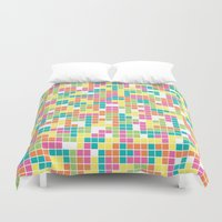 tetris Duvet Covers featuring Tetris by Alisa Galitsyna