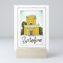 portofino postcard Mini Art Print