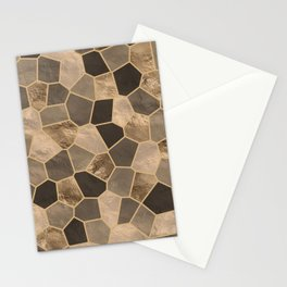 Mosaic Pattern - Golds #2 Stationery Cards