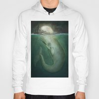 dick Hoodies featuring Moby Dick by Marilyn Foehrenbach Illustration