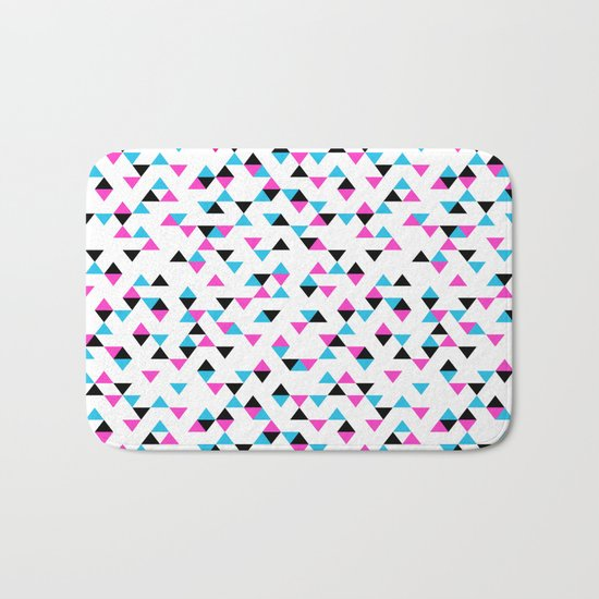 Electric Triangles Bath Mat