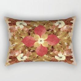 Dried Leaves Mandala Rectangular Pillow
