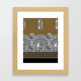 Roman Arches Black Brown Framed Art Print