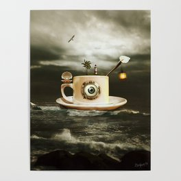 coffee cup and sky Poster