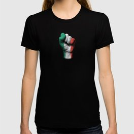 Italian Flag on a Raised Clenched Fist T-shirt