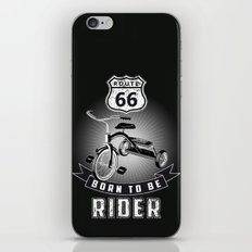 born to be rider iPhone & iPod Skin
