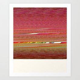 99 (Polaroid Glitch) Art Print