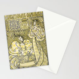 Poster for Delft Salad Oil, Jan Toorop, 1894 Stationery Cards
