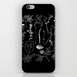 Nature Botanical Drawings by young kid artists, profits are donated to The Ivy Montessori School iPhone Skin
