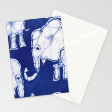 Batik Elephants Stationery Cards