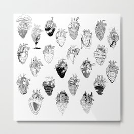 The Anatomy of a Heart Pattern Metal Print