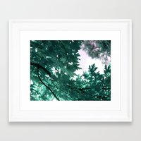 turquoise Framed Art Prints featuring turquoise by Françoise Reina