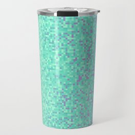 Sky Blue Purple Pixilated Gradient Travel Mug