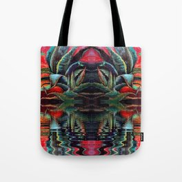 SURREAL DESERT AGAVE & BLUE DRAGONFLIES REFLECTIONS Tote Bag
