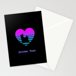 Yorkshire Terrier Love Cyberpunk Vaporwave Dog Puppy Gift Stationery Cards