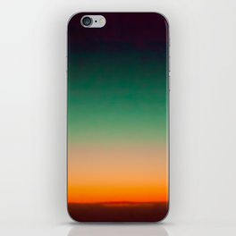 Green and Yellow Magic Dawn in the Sky (Vintage Nature Photography) iPhone Skin