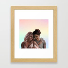 A Happy Begging Framed Art Print
