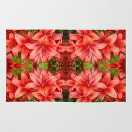 """""""A Gathering of Lilies"""" Remix - 5 (2-1) [D4471~15] Rug"""