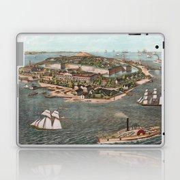 Vintage Pictorial Map of Fort Monroe Virginia Laptop & iPad Skin