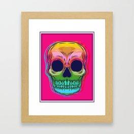 skull colors  Framed Art Print