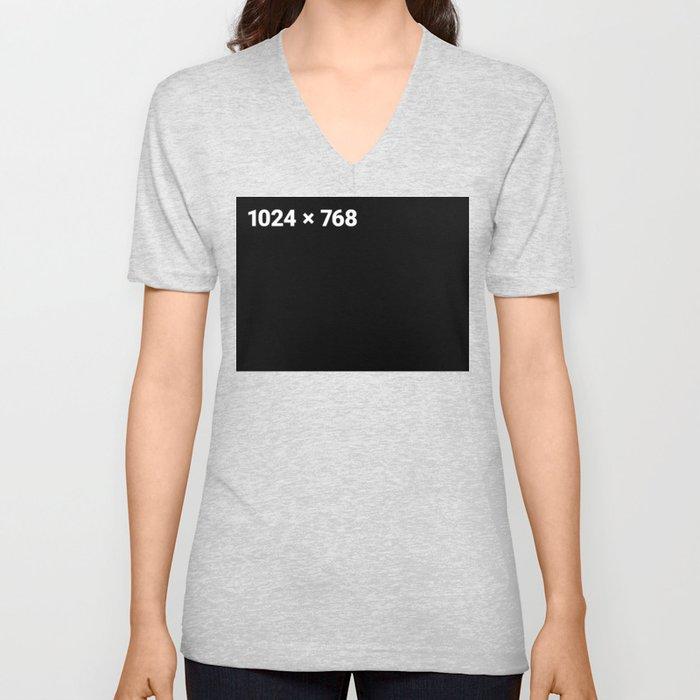 1024 x 768 black panel Unisex V-Neck