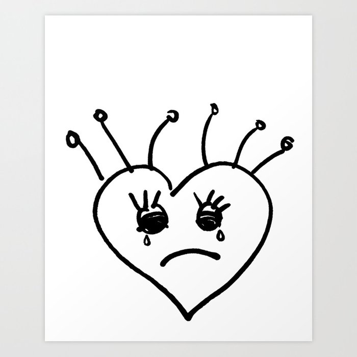 Emo Heart Art Print