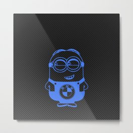 Carbon minion blue Metal Print