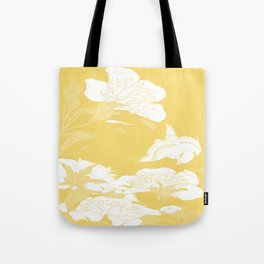 japanese flowers. Yellow Tote Bag