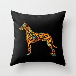 Great Dane Art Throw Pillow