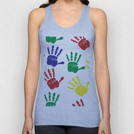 Colorful hands Unisex Tank Top