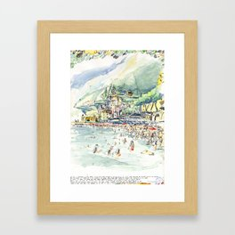 Amalfi beach / Italy Framed Art Print