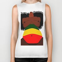 rasta Biker Tanks featuring Rasta Beauty by Courtney Ladybug Johnson