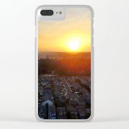 Northwest Sunset Clear iPhone Case