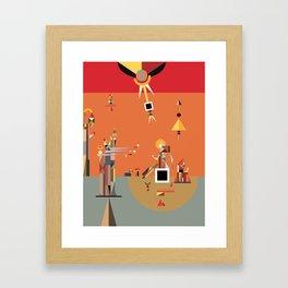 in the land of uz Framed Art Print
