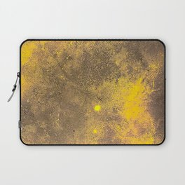 Yellow Painted on Concrete Laptop Sleeve