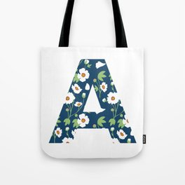 A is for Anemone Tote Bag