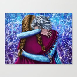 Anna and Elsa ~Frozen Canvas Print