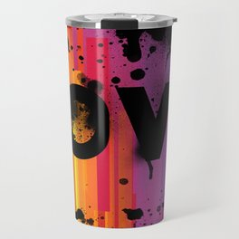 For Love - Black Background Travel Mug