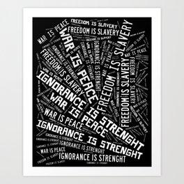 Orwell's quotes Art Print